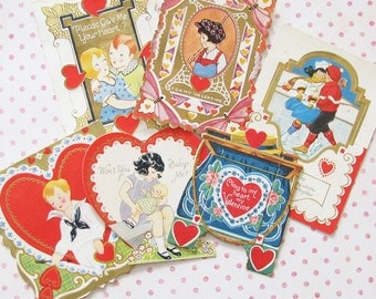 Just Thinking of You...Charming Lot of Vintage 1930s Valentines