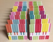 Mini Cards 16 Popsicles - blank for thank you notes 3 x 3