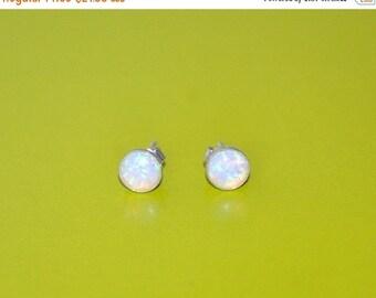 6mm Australian Opal stud earrings, Sterling Silver Earrings, 925 Sterling Silver, Fashion Jewelry, Opal Jewelry