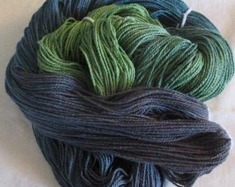 Handpainted Yarn - 4/2 Soft Cotton Yarn  WILLOW