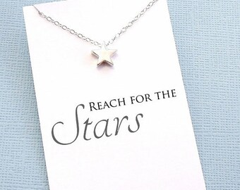 SALE - Graduation Gifts | Inspirational Star Necklace, Graduation Gifts for Her, Student Gifts, Class of 2017, Graduation Gifts, Student Gif