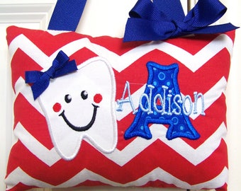 Tooth Fairy Pillow - Red Chevron