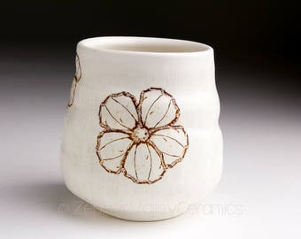 Ceramic Wine Cup - Stoneware Tumbler - Tea Bowl - Yunomi - Juice Cup - Pottery Glass - Handleless Mug