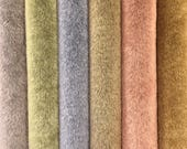 """NEW!  Sassy Long Pile - Premium Fabric for making Mini Teddy Bears - by Emily Farmer - Hand Dyed - LOT G - 6 Pieces - 9"""" x 7"""""""