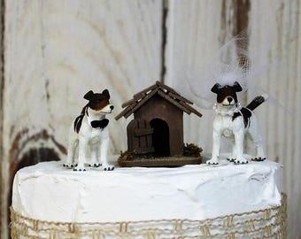 Jack Russell Wedding Cake Topper, Dog Cake Topper, Grooms  Cake, Mans Best Friend Cake Topper, Animal Cake Topper