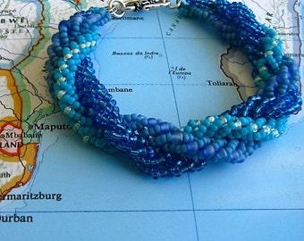 Peyote Spiral Rope Bracelet (Maputo)