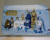 70s Vintage Star Wars Sheet 1977 Twin Bed sheet Twin Fitted Sheet and Pillowcase A New Hope Star Wars Collectable Fitted Sheet