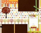 Fall Favorites - 12x12 Premade Scrapbook Page
