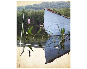 Canoe At Rest, Watson Pond - 8 x 10 Art Print