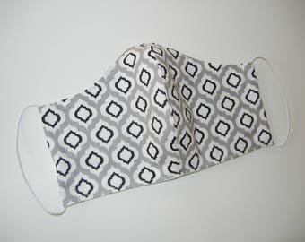Fabric Surgical Face Mask in Geometric Raindrops
