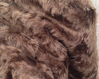 CHESTER - Chocolate Mohair Fur - Fat 1/8m piece - 18mm pile