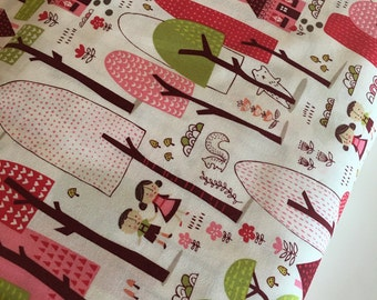 Woodland Nursery fabric, Modern Baby Quilt fabric, Girl Woodland Quilt fabric, Woodland Blanket fab, Walk in the Woods Main, Choose the cut