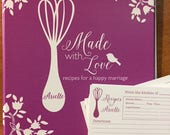 bridal shower recipe binder bridal shower recipe cards bridal shower