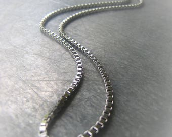 Stainless Steel Box Chain Necklace Silver Chain Necklace Unisex Chain Necklace Mens Chain Item No. 4710