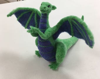 Needle Felted Dragon by Shelly Schwartz