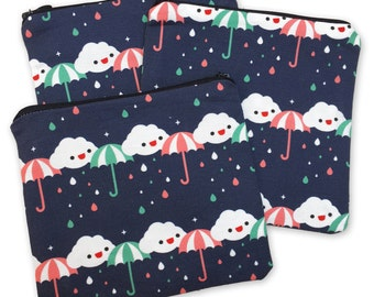 Rainy Day Zipper Pouch - Coin Purse