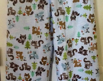 GREAT OUTDOORS flannel lounge pants capris or shorts boys girls pajama pants children's sizes 0 3 6 9 12 18 24 2T 3T 4T 5 6 6X 7 8 10 Custom