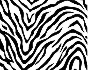 Craft Vinyl, Heat Transfer Vinyl, Zebra Animal Print, Printed Vinyl Sheet, Patterned HTV, Vinyl Sheets