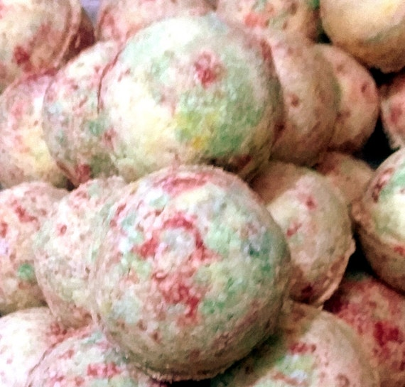 Sale Fruit Loops Bath Bomb Fizzy (exfoliate, handmade, natural, aromatic, moisturizing) Individually packaged and labeled, Stardust Soaps