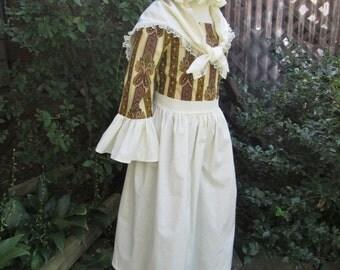 Laura Ingalls Pioneer dress &amp Bonnet Girls size 8 by AshleysAttic