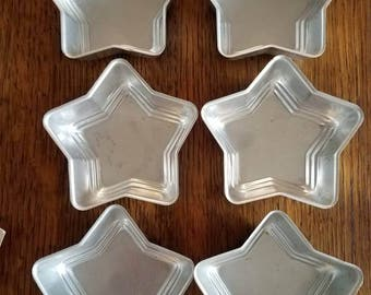Set of 6 Vintage Aluminum Mini Star Pans or Molds
