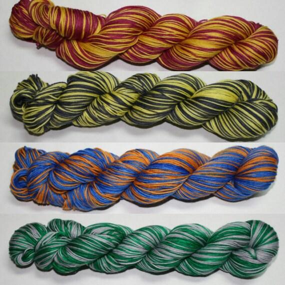 Hybrid House Colors Self Striping Hand Dyed Sock Yarn
