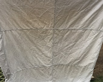 Vintage Muslin White Feedsacks Feather Bed/Mattress Cover Great for Repurposing