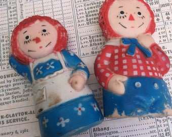 Vintage Raggedy Ann and Andy FInger Puppets