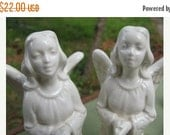On Sale Vintage Praying Christmas Angels,  Praying Angel, Holiday Decoration, Fireplace Mantle Decorations