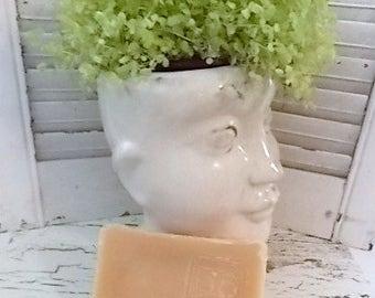 Homemade LARGE 5-6oz Bar of Natural Handmade Soap in BROWN SUGAR