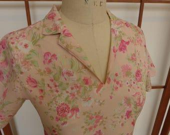Vintage Handmade Polyester Print Dress
