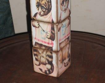 Kitty Cat Puzzle Blocks