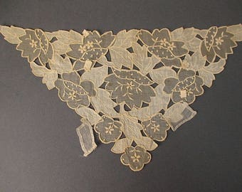 Antique lace yoke Edwardian era