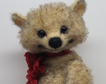 "RESERVED Artist Bear Whimsical Teddy Bear 14"" OOAK By Kim Endlich"