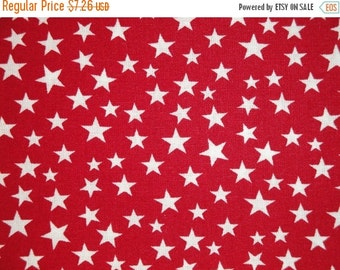CYBER WEEK SALE Scattered Star Fabric | Red With White Star Fabric | Quilt Fabric | Home Decor Fabric | Doll Making Fabric | Americana Fabri