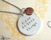 RESERVED for Mindy .. custom grande disc and mini disc necklace
