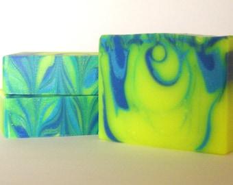 Chance, Cold Process Soap, Papaya Violet Oakmoss Handcrafted Soap