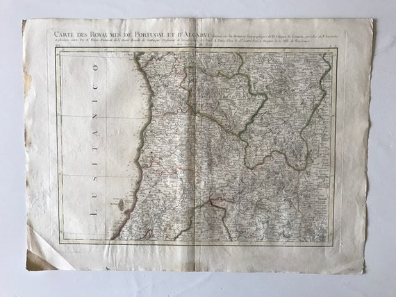 1771 Map of Portugal, Algarve Septentrionale