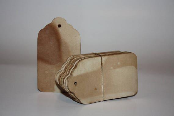 PRICE TAGs  50 MEDIUM 1 3/8 x 2 1/2 Tea Stained Tags Vintage looking