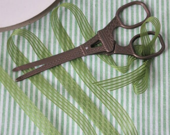 Organza Stripe Ribbon Spring Green  3/8 Inches , boutonnieres, floral supply, crafts, millinery