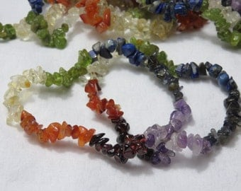 Chakra Stretchy Chip Bracelet Reiki Healing Stone Chakra Meditation Healing Crystal Reiki Energy