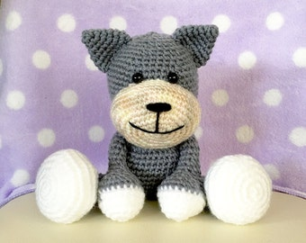 Amigurumi Cat / Crocheted Cat --- Tom Cat - Gray