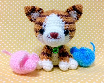 Amigurumi Cat / Crocheted Cat --- Brown Tabby