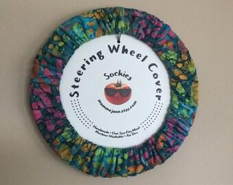 Colorful Batik Steering Wheel Cover