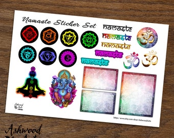 Namaste Ganesh Ganesha Chakra Yoga Planner Stickers