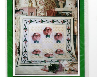 Sewing Pattern - Wall or Lap Quilt Climbing Rose - quick piecing pattern