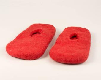 Slippers pattern for shoemaking, felting supplies for felted wool slippers, footwear pattern , personalized gift, gift for her, gift for him