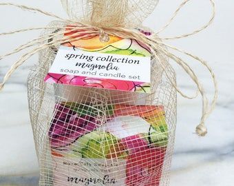 Magnolia Soap and Candle Set | Spring Collection | Gifts | Women