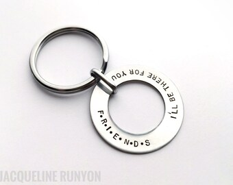 F•R•I•E•N•D•S Quote Keychain