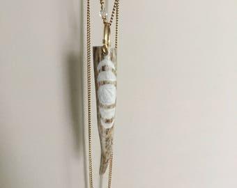 Antler Necklace / Moon phases / Carved Antler / Urban Tribal / Real Deer Antler / Pendant Necklace / Rustic Jewelry /Daniellerosebean /